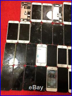 Lot of 28 Apple iPhone 5/5c/5s/6/6+/6s/7/7+/PARTS ONLY, Wholesale Smartphone