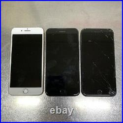Lot of 3 Apple iPhone 8 plus unknown Carriers Mixed GB Please Read Description