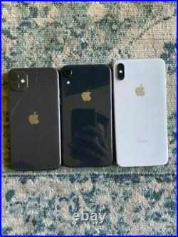 Lot of 3 iPhones Great Condition NO IC Unlocked Mixed Condition For Repair
