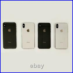 Lot of 4 Apple iPhone X 64GB Mixed Colors