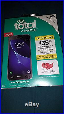 Lot of 4NEW Sealed Total Wireless Samsung GALAXY SKY Quad-core Android 6.0-4pk