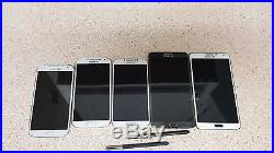 Lot of 5 Samsung Galaxy Note 3 & S4 Unlocked for GSM