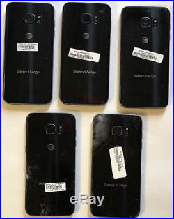 Lot of 5 Samsung Galaxy S7 Edge SM-G935 32GB Black AT&T Phone ASIS for Parts L01