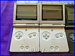 Lot of 6 Nintendo Game Boy Advance SP AGS-101 & AGS-001 Tested and Working