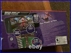 New Nintendo 2DS XL Console Purple/Silver with Charger & Original Box with 8 game