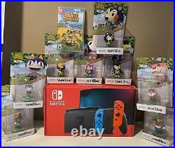 New Nintendo Switch 32GB Console Animal crossing Game Bundle With 8 Characters
