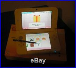 Nintendo 3DS XL White & Pink Handheld System 13 games, charger, cases, & box