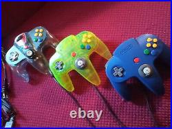 Nintendo 64 System Charcoal Gray, + Cords4 Games3 RemotesDEEP CLEANED