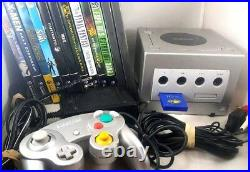 Nintendo GameCube Platinum Console Controller 12 Game Lot Tested Working Cords