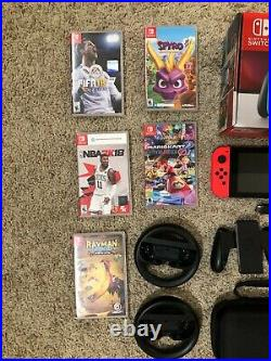 Nintendo Switch HUGE Bundle Extra Controllers, Games, Case, Battery Pack, EUC