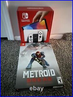Nintendo Switch OLED White + Metroid Dread Special Edition IN HAND SHIPS NOW