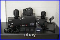Panasonic Lumix GH5 Kit With Lenses, Cage, Batteries, Variable ND, Open Box