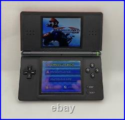 Red and Black NINTENDO DS LITE CONSOLE + 16 GAMES (including Mario Kart, LEGO)