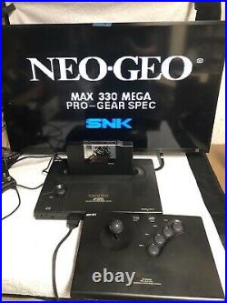 SNK NEO GEO AES US Version Console with 5 Games TESTED