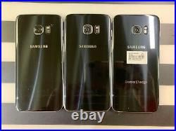 Samsung GALAXY S7 Edge Smartphone -Mix LOT of 3 -Black -Untested FAIR Condition