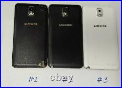 Samsung Galaxy Note 3 32GB lot of 3 pc-A&AT Unlocked SEE DESCRIPTION (206)