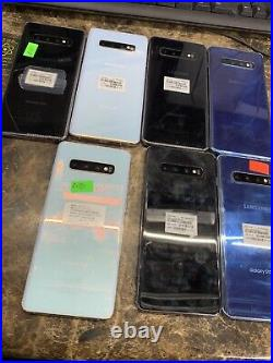 Samsung Galaxy S10 + Plus Cracked Bad LCD Clean. Needs New Screen AT&T
