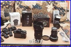 Sony A7RII / A7R II / A7R2 Full-Frame Mirrorless DSLR Tons of Extras