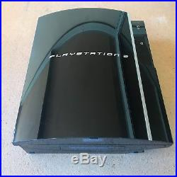 Sony PlayStation 3 Launch Edition 40GB Piano Black Console (CECH-G01) Minecraft