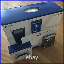 Sony Playstation 5 Console Disc Version PS5 BUNDLE x2 Controller + Spider Man