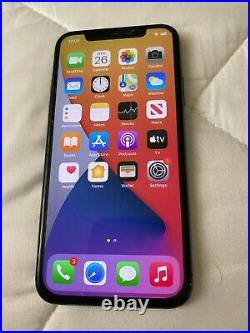 Two used Apple iPhone X 256GB crack front and back, one for parts