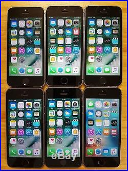 Wholesale Lot of 6 Apple iPhone 5s A1533 16gb Telus Mobility Smartphones