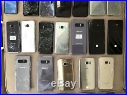 Wholesale Lot of 77 Samsung Galaxy S9, s8, s7, s6, note 8, 5, 4, smartphones