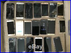 Wholesale Lot of 80 Samsung Galaxy S9, s8, s7, s6, note 8, 5, 4, smartphones