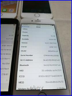 -lot Of 4 Apple Iphone 6 A1549 For Parts No Icloud, All Have Been Factory Reset