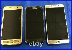 -lot Of 6 (samsung Galaxy S7 Edge/ Active/ Note 5) Phones For Parts Or Repair